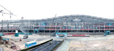 北京新機場緊張建設中