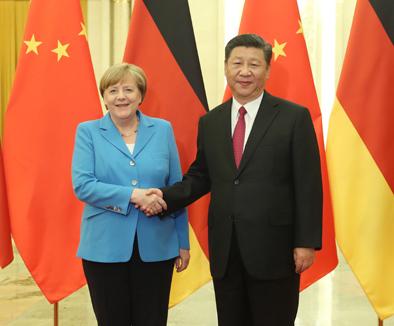 習近平與德國總理默克爾舉行會晤