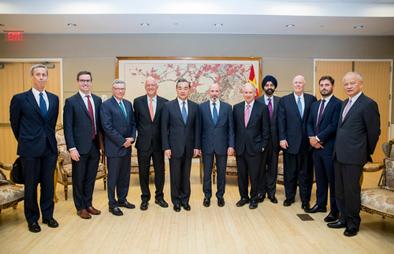 王毅會見美中關係全國委員會美中貿易全國委員會負責人